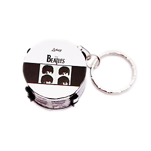 Beatles Faces Drum Keyring